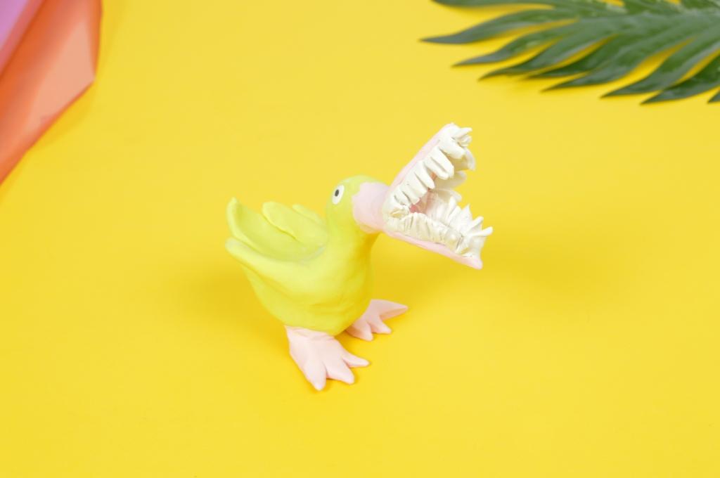 Yellow Bird with Teeth